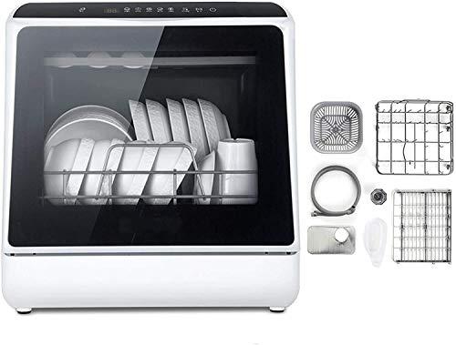 Mini Spülmaschine Tisch Compact Geschirrspüler mit 6 Platz, berühren Sie die Schaltfläche 360 Grad und Spray 75 ° Hochtemperatur-Sterilisation mit Obst- und Gemüsewaschfunktion