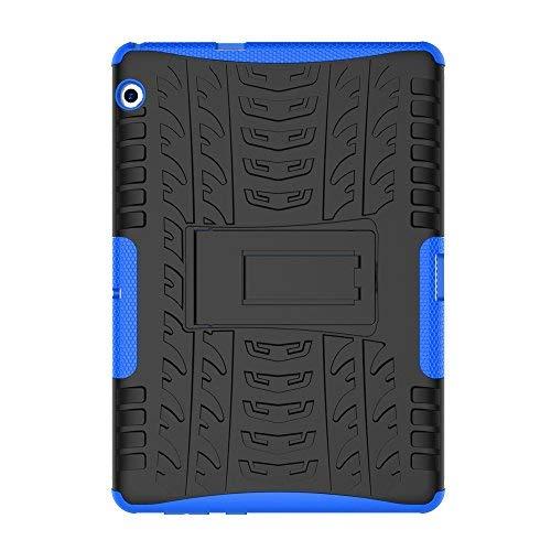 Skytar Huawei MediaPad T3 10 Cover,Ibrido Armor Protezione Dual Layer in TPU Silicone & Duro PC Custodia per Huawei MediaPad T3 10 da 9,6 Pollici Tablet Cover Caso con Il Braccio,Blu