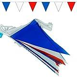 goodymax® Wimpelkette 10 m Blau-Weiß-Rot - viele weitere Farben & Farbkombinationen zur Auswahl