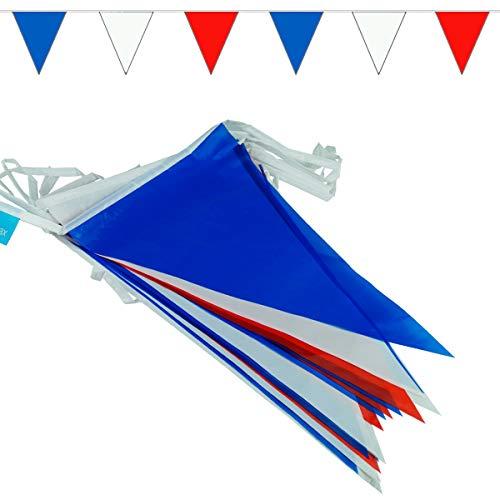 Goodymax® Wimpelkette 10 m Blau-Weiß-Rot - viele weitere Farben und Farbkombinationen zur Auswahl