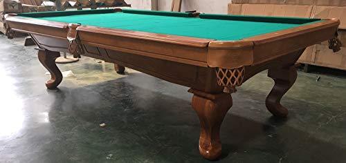 Kunibert 9 Ft. Tunierpoolbillard Billardtisch Modell Templar Pool Billard mit 3cm starken Schieferplatten Gestellfarbe Eiche Antik Tuchfarbe: grün