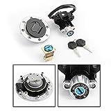 Artudatech Moto Interruptor de Arranque Set, Interruptor de Encendido con Tapón del Depósito de Combustible y Llaves para SUZU-KI V-Strom DL650 DL1000