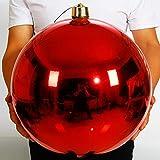 HYXXQQ 40cm Bolas de Navidad Gigante el Plastico, Brillante/Mate/Perla/Brillo, Rojo Bolas Decorativas Inastillable Resistente A Los Rayos UV Adornos Decoraciones (Color : Bright)