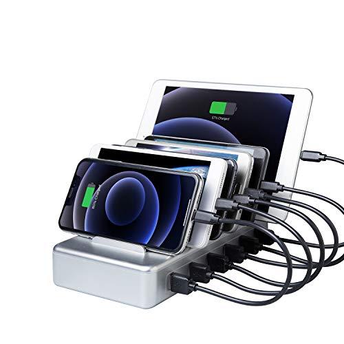 YOJA Estación de carga USB para varios dispositivos con 6 puertos para...