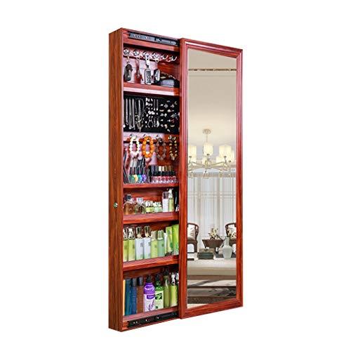 Even sieradenkast, wandmontage, met spiegel, sieradenkast, grote kast, schuifdeuren