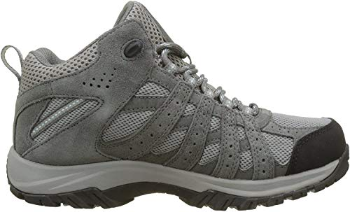 Columbia Canyon Point Mid, Zapatos Impermeables de Senderismo para Mujer, Gris (Light Grey, Oxygen 060), 38 EU