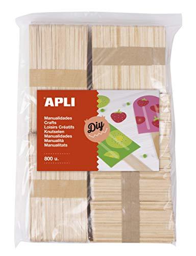 APLI Kids - Palos polo de madera natural surtido 800 uds.