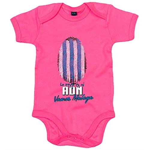 Body bebé lo tengo en mi ADN Málaga fútbol - Rosa, 6-12 meses