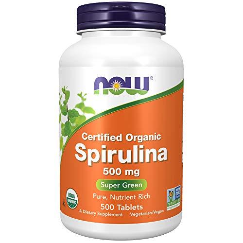 Certified Organic Spirulina, 500 mg, 500...