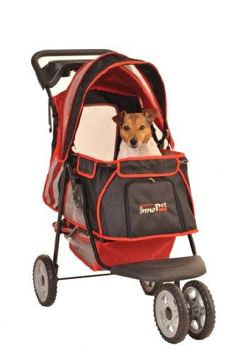InnoPet® hondenwagen kinderwagen voor honden rood zwart klassiek Pet Stroller model