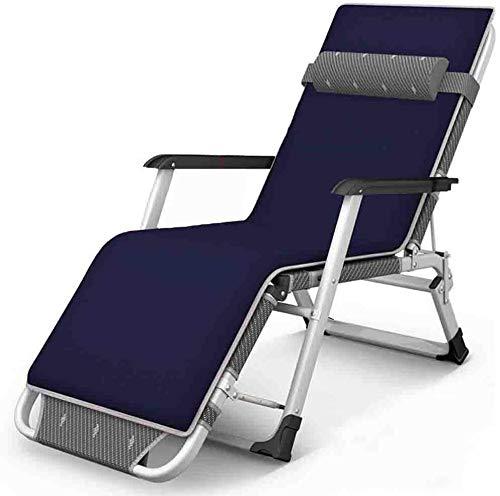 LTY Tumbona de jardín, sillas de jardín con gravedad cero para patio, plegable, playa, jardín, camping, pesca, reclinable, altura de 200 kg (azul)