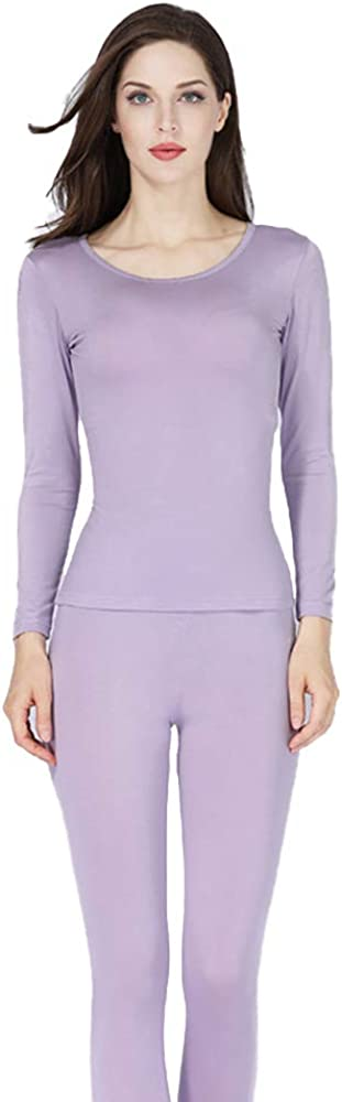 Thermal Underwear for Women Winter Warm Base Layer Knitted Thermal Underwear Set Ultra Soft Top and Bottom