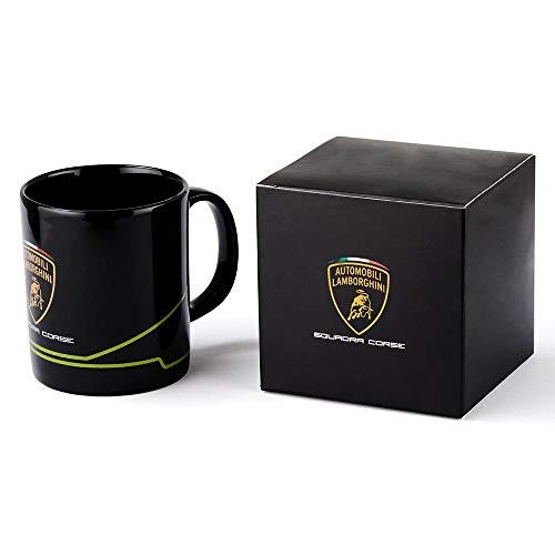 Lamborghini Squadra Corse GT Racing Tasse Kaffeetasse Becher Kaffeebecher Fanartikel Aufdruck Logo 300 ml schwarz