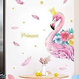 Wandaufkleber 110 * 143Cm Pink Flamingo Wandaufkleber Für