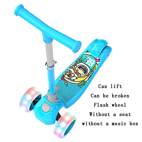 Review YUMEIGE Kick Scooters Kick Scooters One-Click Folding Commuter Scooters Flash Wheel 1-10 Kids...