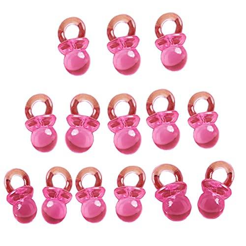 Beyond Dreams 50 Deko Schnuller 2 cm x 1 cm - Baby-Party - Tisch-Dekoration Baby-Shower - Baby-Schnuller - Einladung Taufe - Basteln - Anhänger für Kette - Mädchen Jungen