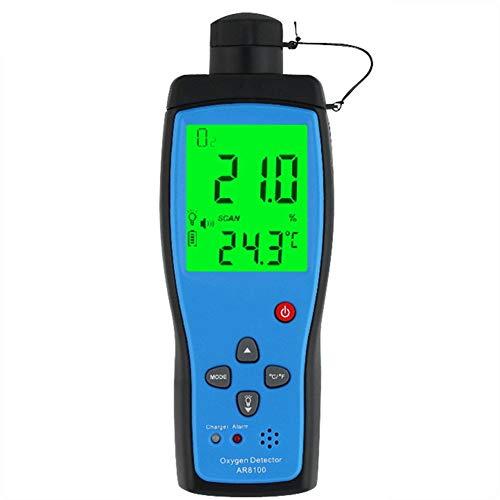 DZSF Tragbarer Luftqualitätsmonitor Gaszähler O2 Sauerstoff Temp-Detektor Analyzer Handheld Tester Temperatur-Thermometer