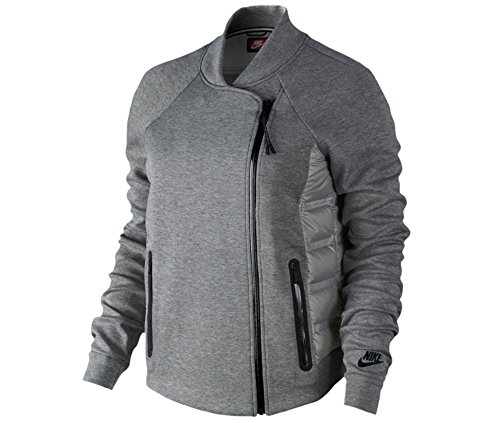 Nike Tech Fleece Aeroloft Moto Women's Jacket Size X-Large (Grey)