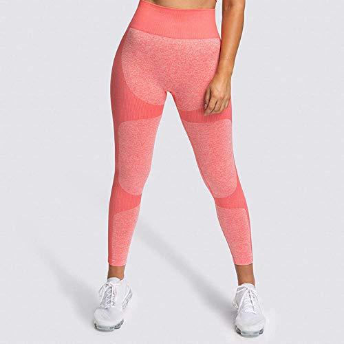 Hoog getailleerde yoga-legging yogabroek,naadloze elastische hoge taille yogabroek,Butt LiftingSquat Proof fitness-legging-Red_M,dames katoenen stretch trainingspak