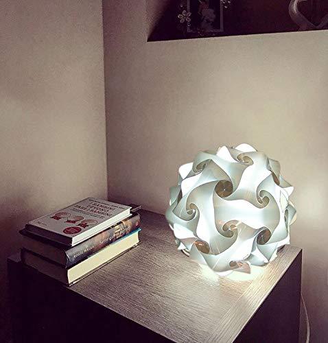Lámpara mesita de noche esférica 30 en kit para montar luz dormitorio puzzle lazo 23 cm pantalla noche relajante lámpara de mesa escritorio dormitorio infantil
