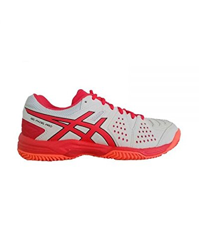 ASICS Gel Padel Pro 3 SG Mujer Blanco Rojo E561Y 0119