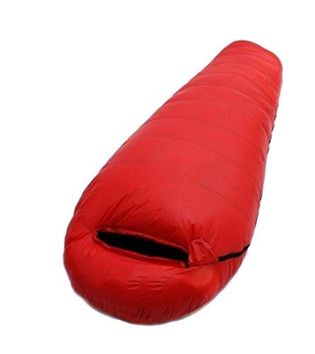 Xin Su Ultra-léger Momie Sacs De Couchage Escalade En Plein Air Voyage Camping Sauvage Les Adultes Peuvent être épissés Sacs De Couchage Multi-couleur,Red-(180+30)*80*50*30cm