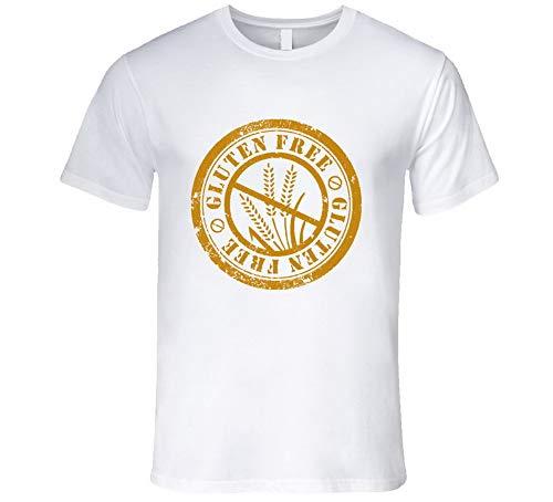 Camiseta sin gluten para alimentos divertida, alergia al trigo, estilo de vida, color blanco