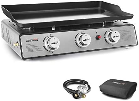 Royal Gourmet PD1301S Portable 24 Inch 3 Burner Table Top Gas Grill Griddle with Cover 25 500 product image