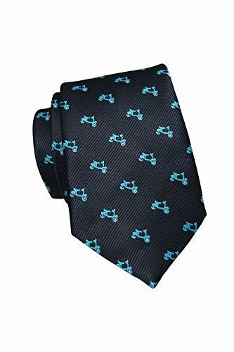 RAU Corbata para hombre con pañuelo a juego de vespas
