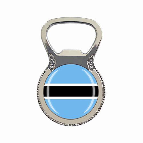 Botswana-Flagge Bierflaschenöffner Kühlschrank Magnet Metall Glas Kristall Reise Souvenir Geschenk Heimdekoration