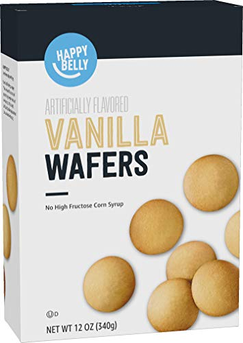 Amazon Brand - Happy Belly Vanilla Wafers, 12 Ounce