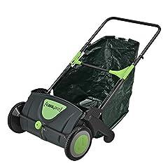 [casa.pro]® grässopare lövverkssopare 53 cm bred uppsamlingspåse 100 L grässopare lövsopare sweeper
