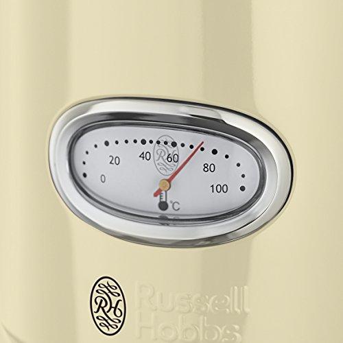 Russell Hobbs Retro Vintage Cream 21672-70 Wasserkocher (2400 W, 1.7 l, mit stylischer Wassertemperaturanzeige, Schnellkochfunktion) creme - 6