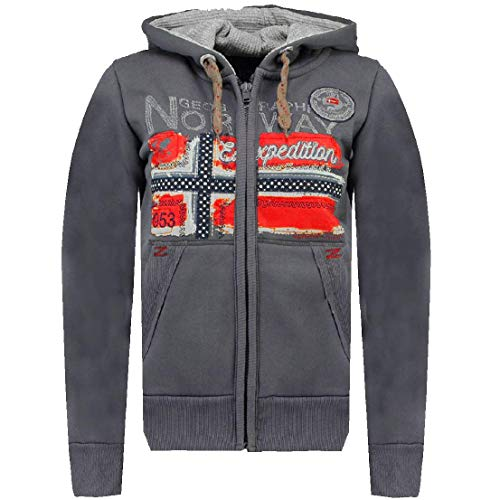 Geographical Norway Farlotte Lady Sweat-shirt pour femme Woman Full Zip Capuche Hood WR914F-gris foncé Taille M