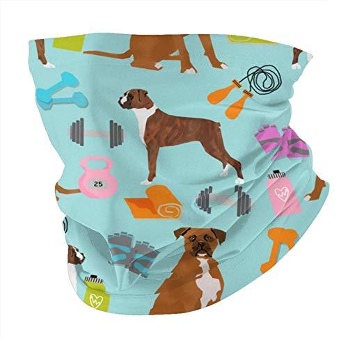 Xinflag@10 Ilustración para perros de fitness – Lite azul cara bufanda de protección UV cuello pasamontañas variedad cabeza bufanda (unisex), blanco, talla única