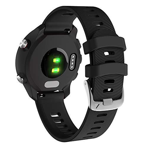 YOOSIDE für Garmin Vivoactive 3 Armband,20mm Silikon wasserdicht Ersatzarmband Uhrenarmband für Garmin Vivoactive 3 Music, Forerunner 645/645 Music,Vivomove HR (Schwarz)