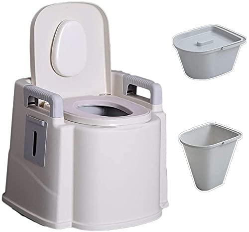 JSL Inodoro portátil con cesta lavable y soporte de papel higiénico para fiestas en la piscina, camping, caravanas, pícnics y festivales
