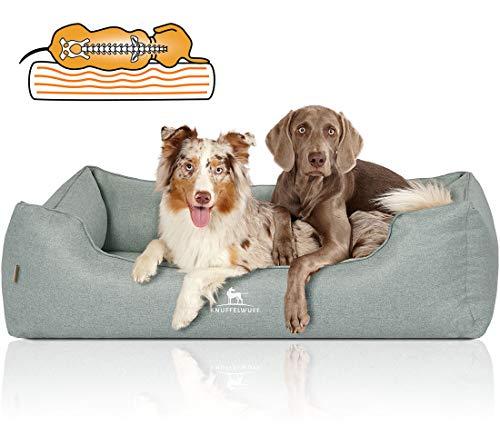 Knuffelwuff Orthopädisches Hundebett XXL Luisa Hundekorb Hundesofa Hundekissen Hundekörbchen waschbar Petrol Grün 120 x 85cm grosse Hunde