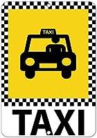 装飾ポスター看板、タクシー駐車場看板、Style2274金属ポスターティンサインヴィンテージ壁の装飾金属壁プラーク警告注意通知安全標識金属
