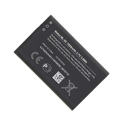 Best.Dealz OEM Replacement 1020 mAh 3.7V Li-ion BL5C BL-5C Battery for Nokia Mobile Phone Handset