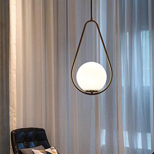 XXYHYQHJD Diámetro 26cm nórdica Moderna Minimalista Comedor del café del Restaurante de Noche Dormitorio lámpara Colgante de Cobre Colgante de luz