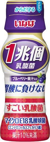 いなば食品 1兆個 すごい乳酸菌ドリンク ブルーベリー果汁入り 65ml ペットボトル 100本 (50本入×2 まとめ買い)