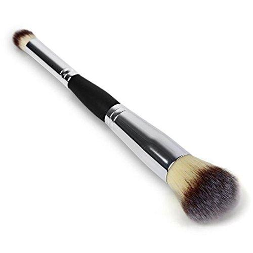 Dégagement!!!, LMMVP Brosses Cosmétiques Contour Visage Blush Fard à Paupières Poudre Maquillage Fondation Outil RD (1PCS, Argent)