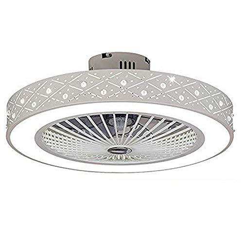 Deckenventilator Deckenleuchte Dimmbar mit Beleuchtung und Fernbedienung, Fan Deckenventilator LED Licht,Einstellbare Windgeschwindigkeit,Deckenlampe für Wohnzimmer, Schlafzimmer (2)