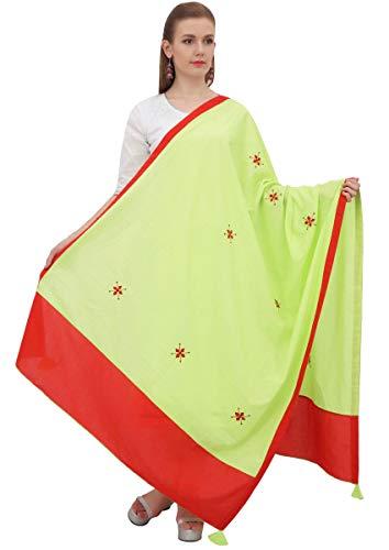 Phagun india algodón Dupatta Embridered Chunni largo de la estola de la bufanda El tiro