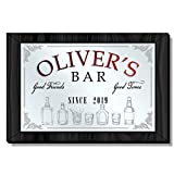 Personalized Bar Mirror, Decorative Framed Acrylic Mirror for Home Bar Decor, Game Room, Man Cave, Kitchen, Custom Back Bar, Different Sizes and Frame Colors Available