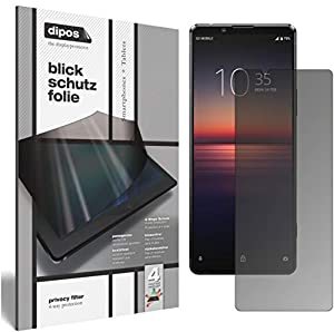 dipos I Privacy Filter compatible with Sony Xperia 1 II Screen Protector Anti-Spy 4-Way Protection