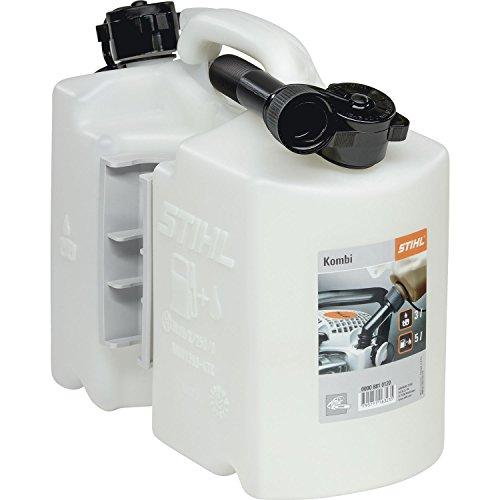 Stihl 8810120 Kombi-Kanister für 5L Kraftstoff und 3L Öl, Transparent