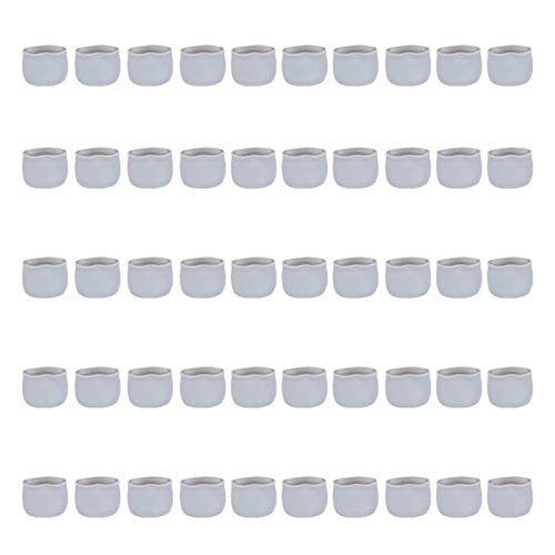 Pingping ZZPING 50PCS Desk Leg Protective Cover Silicone Table Chair Foot Cover Leg Mats Mute Chair Footpads Stylish Chair Desk Foot Sleeves (Color : Grey)