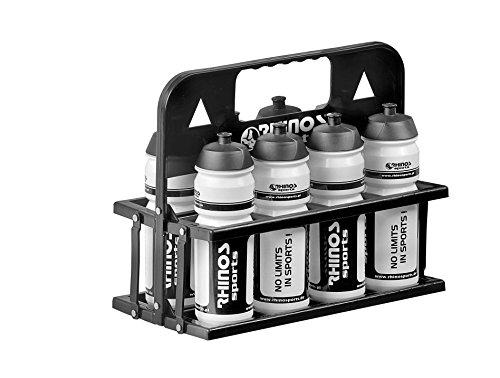 RHINOS sports Trinkflaschen 8er-Set 750 ml inkl. Halter